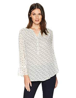 Lucky Brand Women's Mix Print Floral TOP