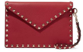 Valentino Garavani The Rockstud Textured-leather Pouch