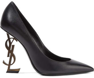 Saint Laurent Opyum Leather Pumps - Black
