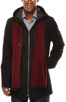 Jf J.Ferrar JF Hooded Black Coat