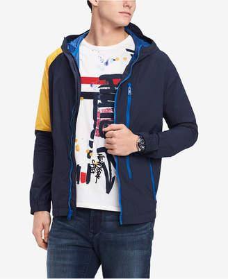 Tommy Hilfiger Men's Union Colorblocked Hooded Windbreaker