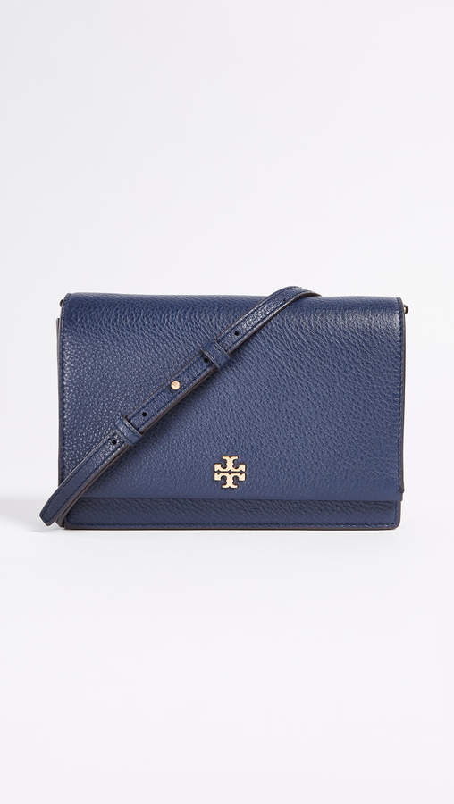 Tory Burch Georgia Pebbled Leather Cross Body Bag