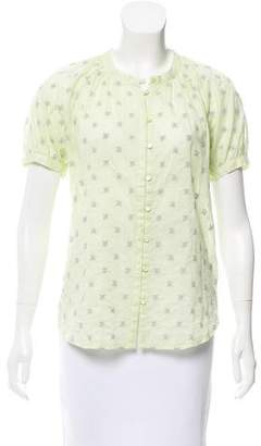 French Connection Embroidered Button-Up Top w/ Tags