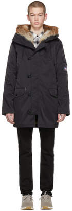 Opening Ceremony Reversible Black Limited Edition Fur-Lined Parka
