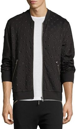 Diesel Star-Embossed Bomber Jacket, Black $228 thestylecure.com