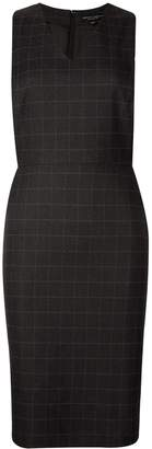 Dorothy Perkins Womens Grey Check Print Shift Dress