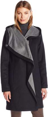 Vince Camuto Women's Cascading Wool Coat