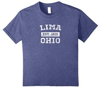 Lima Ohio T Shirt Est. 1831 Distressed