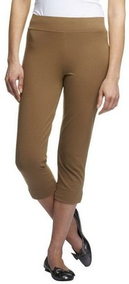Women With Control Women with Control Petite Contour Waist Pull-On Capri Pants