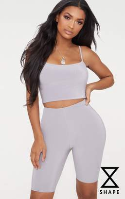 PrettyLittleThing Shape Grey Slinky Cycling Shorts