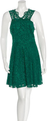 Sandro Sleeveless Lace Dress $70 thestylecure.com