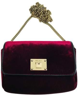Jimmy Choo Burgundy Velvet Handbag