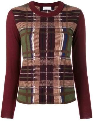 Sonia Rykiel tartan pattern jumper