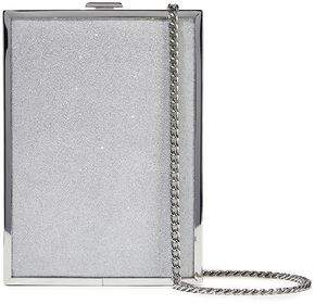 Halston Frame Glittered Acrylic Box Clutch