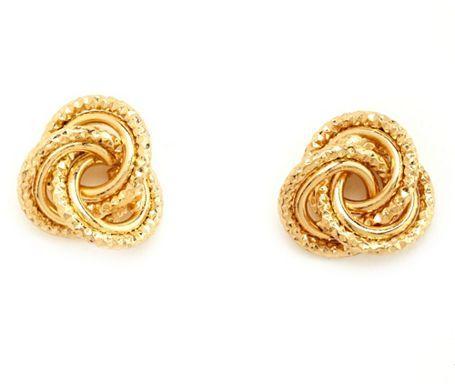 Charlotte Russe Textured Knot Stud Earrings
