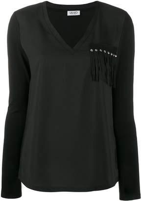 Liu Jo fringe-applique T-shirt