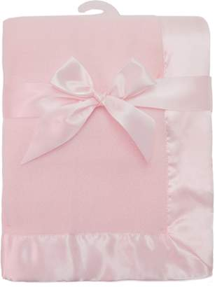 "American Baby Company Fleece Blanket 30"" X 40"" with 2"" Satin Trim"