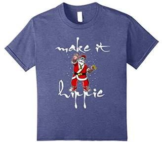 santa claus make it hippie - Funny Christmas 2017 t-shirt