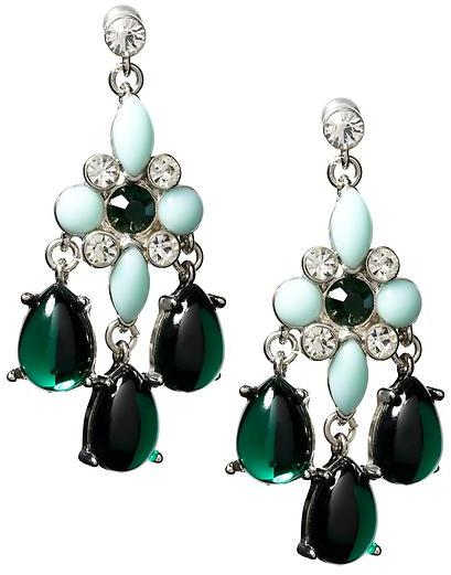 Banana Republic Mint chandelier earring