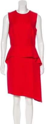 Christian Dior Sleeveless Wool Dress Red Sleeveless Wool Dress