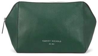 Harvey Nichols Large Forest Green Cosmetics Case