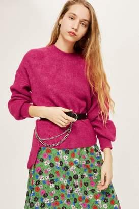 Topshop PETITE Mohair Ribbed Crew Sweater