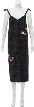 Nicole Miller Sleeveless Embroidered Dress