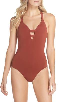 Seafolly Active Deep-V One-Piece Swimsuit