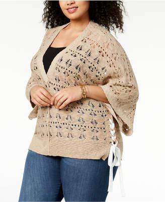 Love Scarlett Plus Size Lace-Up Sweater