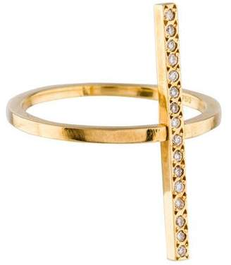 Ileana Makri 18K Diamond Cross Over Ring