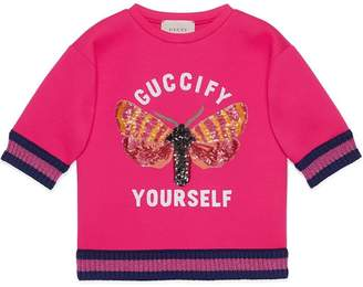 Gucci Kids Children's sweatshirt with moth