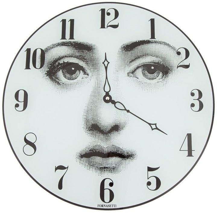 Fornasetti face printed clock