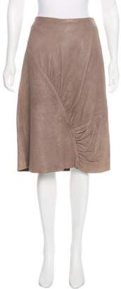 Collection Privée? Distressed Leather Skirt
