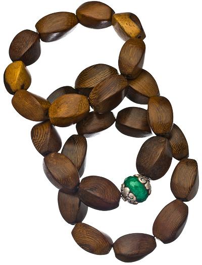 Jacqueline Pinto Jade Cabana Life Spindle Wood Bracelet Set