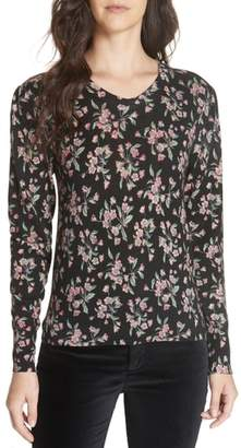 Rebecca Taylor Tilda Floral Wool Sweater