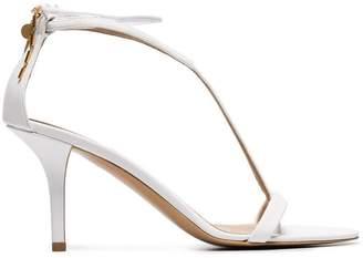 Stella McCartney white 80 faux leather sandals