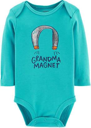 Carter's Slogan Long Sleeve Bodysuits - Baby Boy Nb-24m Bodysuit - Baby