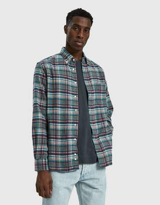 Gitman Brothers Candy Plaid Flannel Shirt in Blue