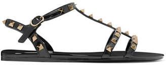 Valentino Garavani The Rockstud Rubber Sandals - Black