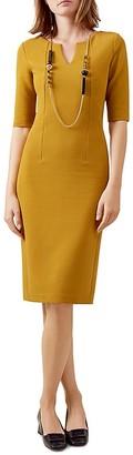 HOBBS LONDON Eimear Ribbed Dress $210 thestylecure.com