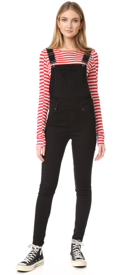 Cheap Monday Dungaree Spray Black Overalls