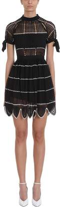 Self-Portrait Self Portrait Crochet Scallop Mini Dress