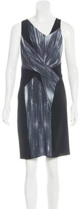 Helmut Lang Silk Abstract Print Dress