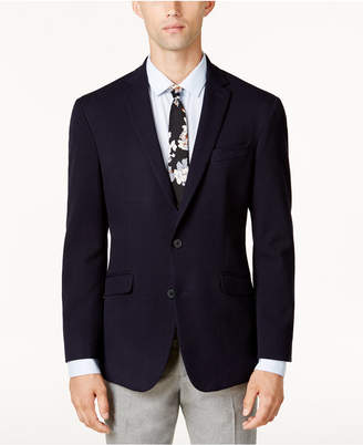 Kenneth Cole Reaction Men's Slim-Fit Navy Dot-Pattern Sport Coat