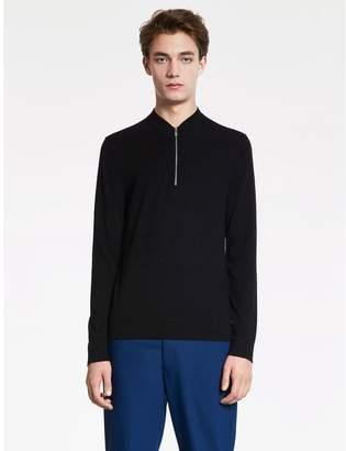 Calvin Klein soft wool cotton half zip sweater