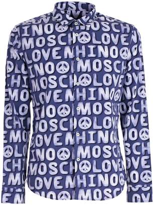 Love Moschino All-over Logo Print Shirt