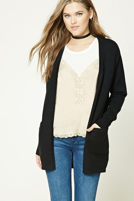 FOREVER 21+ Longline Open-Front Cardigan $27.90 thestylecure.com
