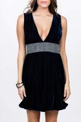 Ark & Co Velvet Rhinestone Dress
