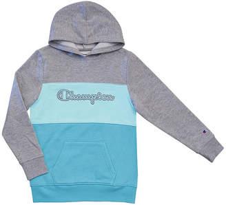 Champion Colorblocked Girls Raglan Sleeve Hoodie-Big Kid