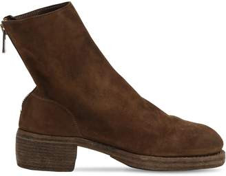 Reverse Leather Boots